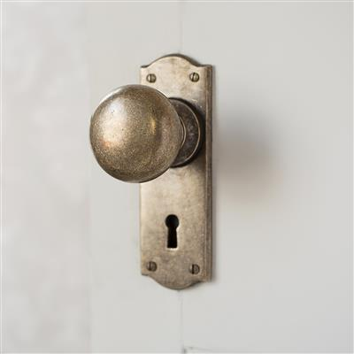 Holkham Door Knob with  Nowton Keyhole Backplate
