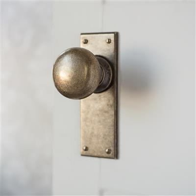 Holkham Door Knob with Nowton Plain Backplate