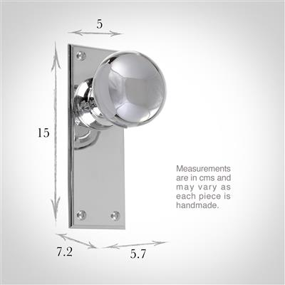 Holkham Door Knob, Ripley Plain Plate, Nickel