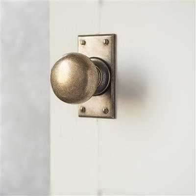 Holkham Door Knob with Ripley Short Backplate