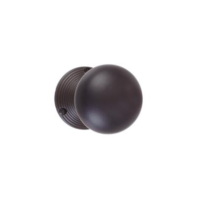 Holkham Door Knob, Reeded Plate, Beeswax