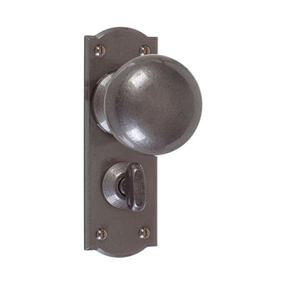 Holkham Door Knob, Nowton Privacy Plate, Polished