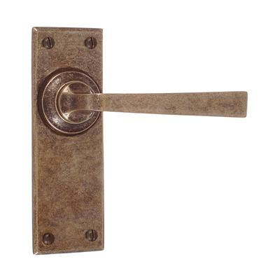 Manson Handle, Bristol Plain Plate, Antiqued Brass