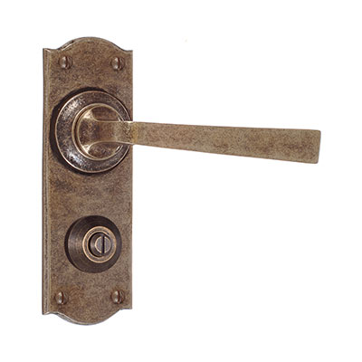 Manson Handle, Nowton Privacy Plate, Antiqued Brass