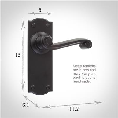 Regency Handle, Nowton Plain Plate, Matt Black
