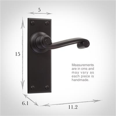Regency Handle, Ripley Plain Plate, Matt Black