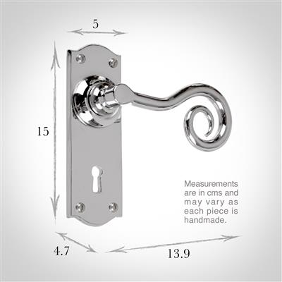 Curled Handle, Nowton Keyhole Plate, Nickel