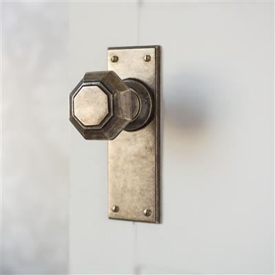 Shaftesbury Door Knob with Ripley Plain Backplate