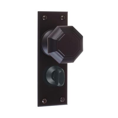 Shaftesbury Knob, Bristol Privacy Plate,Matt Black