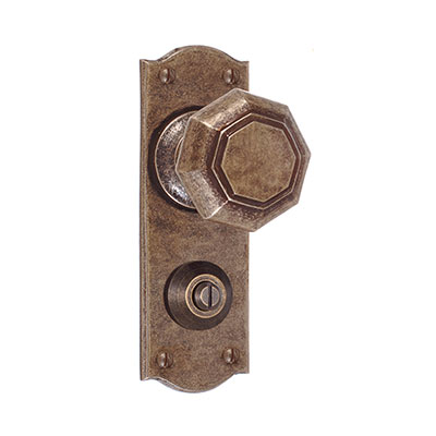 Shaftesbury Knob, Nowton Privacy Plate, AntiquedBrass