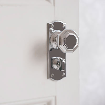 Shaftesbury Knob, Nowton Privacy Plate, Nickel