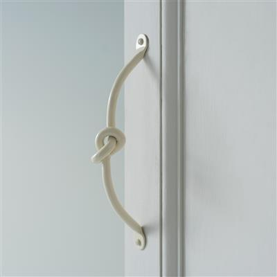 Knotted Handle, 25cm long, in Plain Ivory(discontinued, only stock shown available)