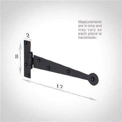 17cm 'T' Hinge in Matt Black