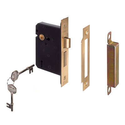5 Lever Lock Lever Handle in Brass