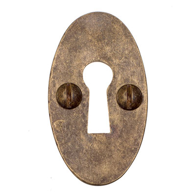 Whatfield Escutcheon Plate in Antiqued Brass