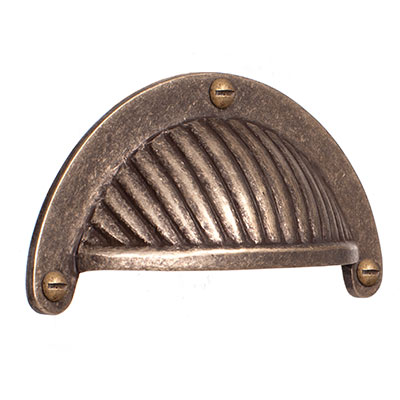 Cook's Drawer Pull in Antiqued Brass
