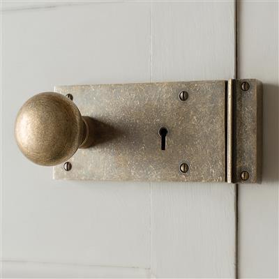 Brass Rim Lock (Left) with Holkham Knob
