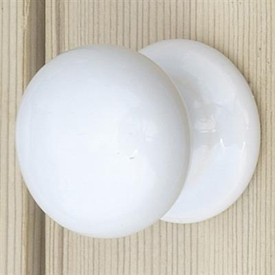3cm Porcelain Cupboard Knob in White