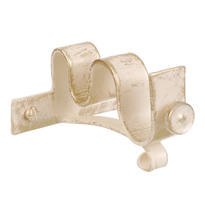 20/12mm Double Pole Centre Bracket in Old Ivory