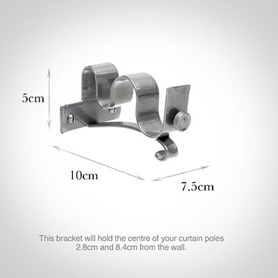 25 12mm Double Pole Centre Bracket Curtain Accessories