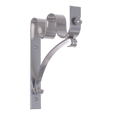 38/20mm Double Pole Standard Bracket in Mercury