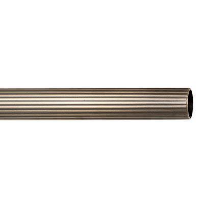 25mm Reeded Brass Pole in Antiqued Brass