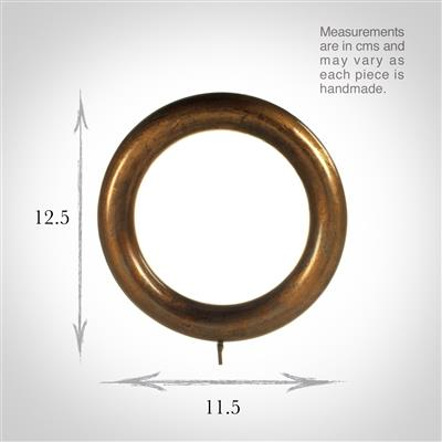 55mm Gilded Mahogany Curtain Ring(discontinued, only stock shown available)