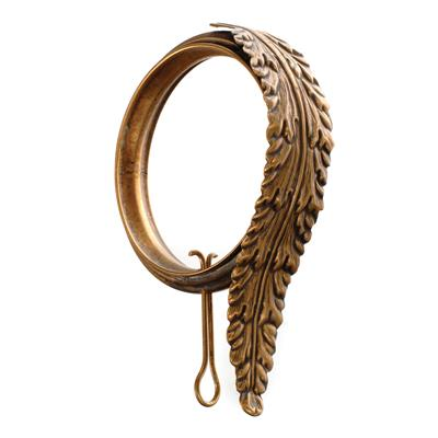 Curtains Ideas curtain rings brass : Brass Leaf Curtain Rings   Mahogany Curtain Poles and Accessories