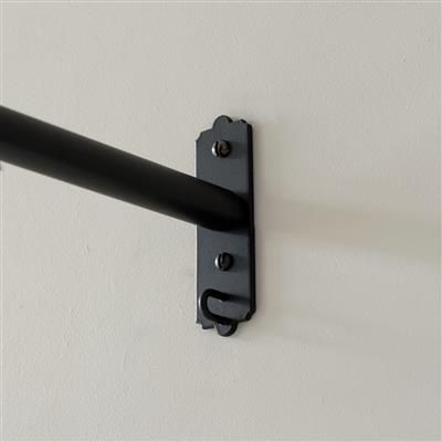 20mm Brett Recess Bracket in Matt Black