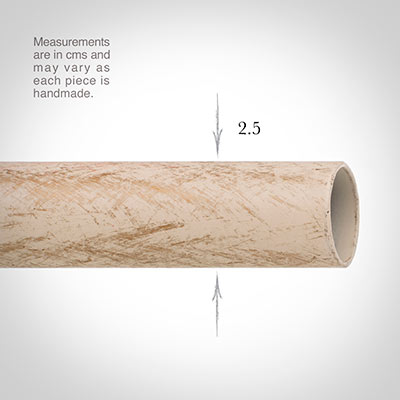 25mm Classic Pole in Old Ivory