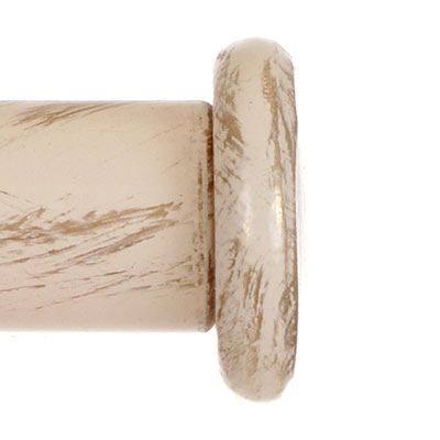 20mm Button Finial in Old Ivory