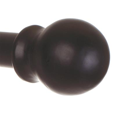 20mm Cannonball Finial in Matt Black