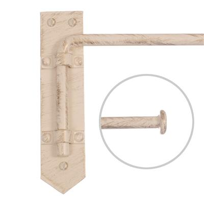 12mm Button Dormer Rod in Old Ivory
