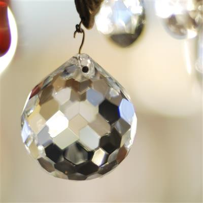 40mm Faceted Ball Glass Droplet