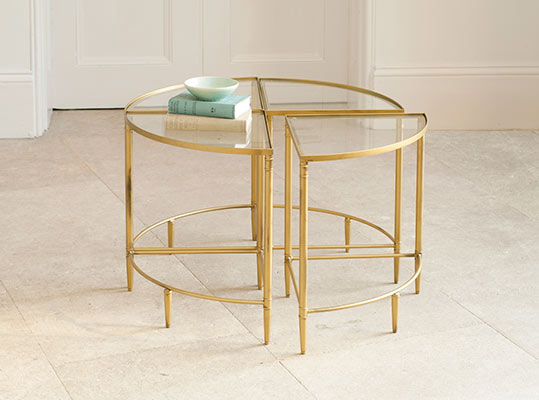 Curzon Quarter Table in Old Gold (priced per quarter)