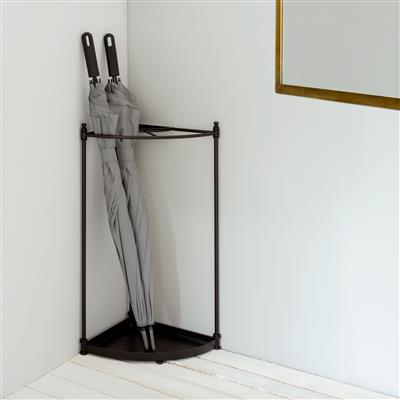 Fairfield Corner Umbrella Stand in Matt Black