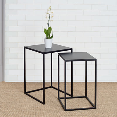Linton Tables in Matt Black