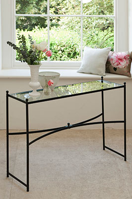 Windsor Console Table in Matt Black