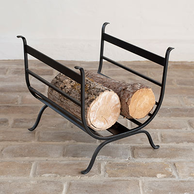 Chappel Log Basket in Matt Black