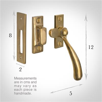 London Window Latch (Left Side) in Polished Brass