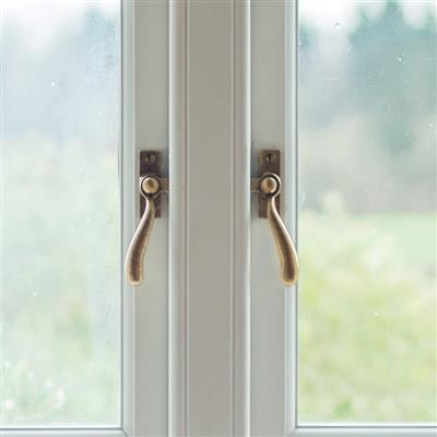London Window Latch (Right Side) in Antiqued Brass