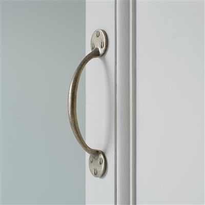 Nacton Door Pull in Antiqued Brass