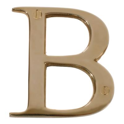 Letter B in Polished Brass