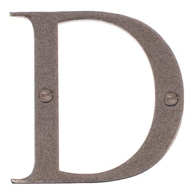Letter D in Polished