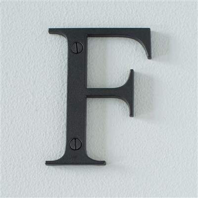 Letter F in Matt Black