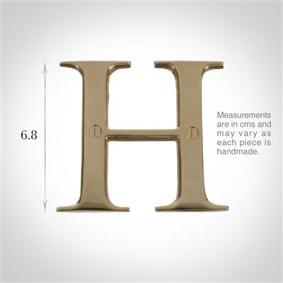 Letter H in Polished Brass