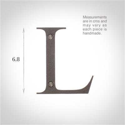 Letter L in Polished