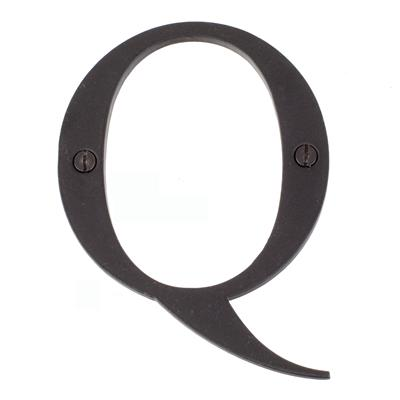 Letter Q in Matt Black