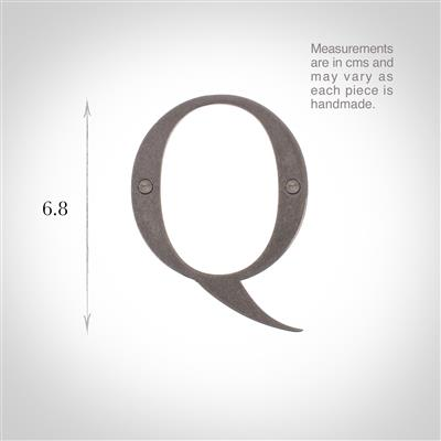 Letter Q in Polished