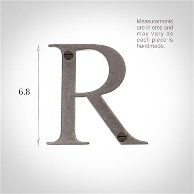 Letter R in Polished